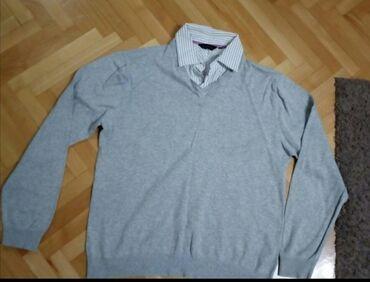Duzina cm sirina - Srbija: Dzemper-košulja XL, duzina 68 cm,sirina 60 cm,duzina rukava70 cm,kao