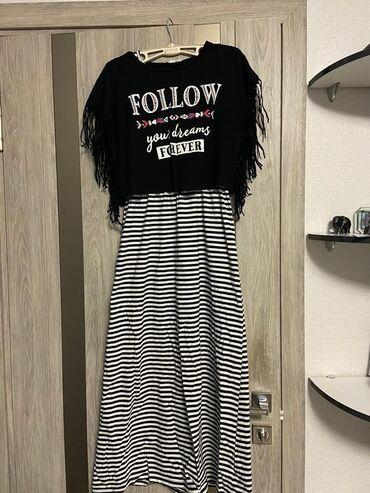 Продаю платье, в хорошем состоянии. прилагается чёрная футболка