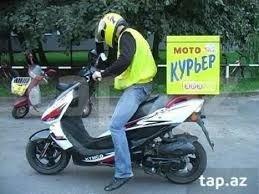Bakı şəhərində Qara Qarayevdə yerləşən restorana moto kuryer tələb olunur.maaş