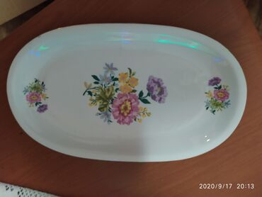 Porcelan - Srbija: Prelep porcelanski oval iz Madjarske star oko 50 godina