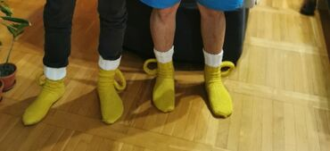 Muske Strikane carape za pivopije, samo izmerite duzinu stopala i