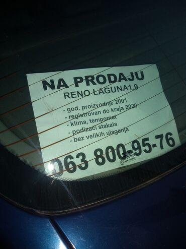 Renault | Obrenovac: Renault Laguna 1.9 l. 2001 | 316381 km