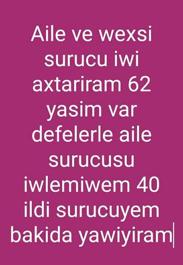 iw axtariram surucu - Azərbaycan: Surucu Isi axtariram aile ve ya wexsi