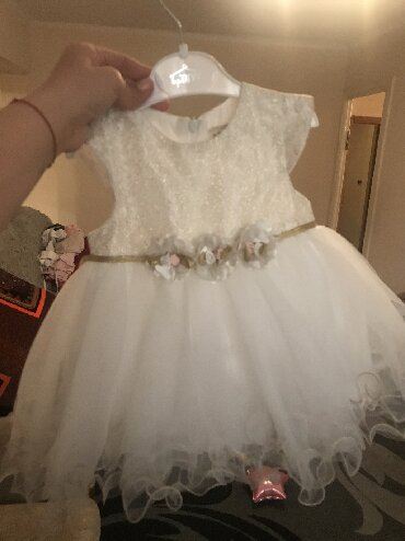 платье для мамы и дочки на годик в Кыргызстан: Платье на годик вместе с шубкойодевали один раз, 500 сом