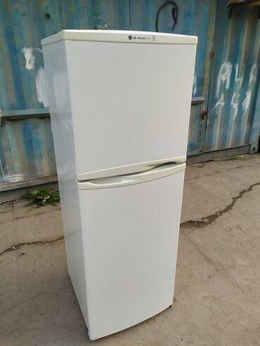 Электроника - Кыргызстан:   Б/у Двухкамерный   Белый холодильник LG