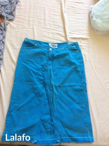 Divna plava moderna suknja nikad obucena zato sto je mala, teksas - Sopot