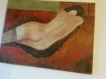 Slike   Sopot: Ulje na platnu. Bogat nanos boje. 40x30. Autorka Iv. Tel