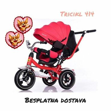Tricikl Playtime XL 414Cena: 9990,00 dinaraBesplatna dostavaBoje