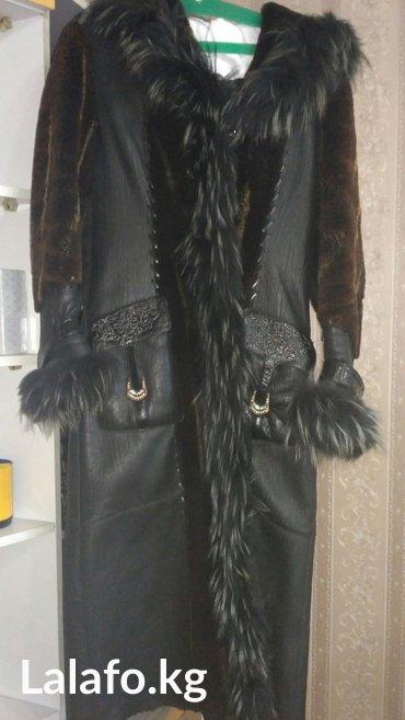 Дубленка размер 46-48 очень теплая для морозов, с капюшоном. в Бишкек