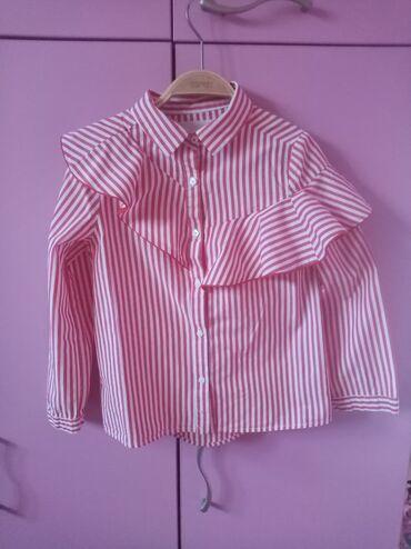 Dečija odeća i obuća - Nova Pazova: Preslatka košulja Zara kids vel 8 divna košulja sa asimetrišnim volano