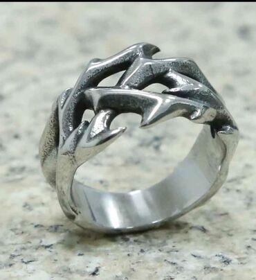 Личные вещи - Бостери: Retro Hollow Design Round Thorns Ring, size 12