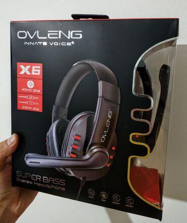 наушники polk audio в Кыргызстан: Новые! Оригинальные игровые наушники Ovleng X6 для пк, с микрофоном