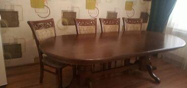 т т к н 2 класс в Кыргызстан: Продаю стол 25000сом, 7 стульев -2000сом. Состояние отличное. Размер