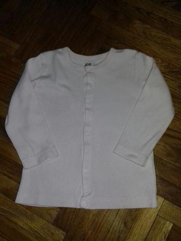 H&M pamucni kardigan, bluzica. Praktican. Velicina 86, ali je malo - Belgrade