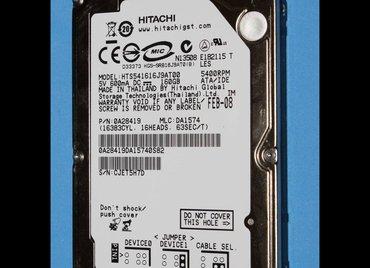 Hitachi 160 GB ATA hard disk za laptop ispravan!  Hitachi 160 GB ATA - Novi Pazar