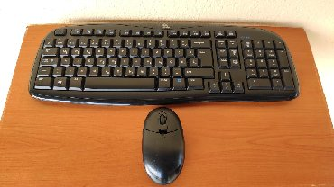 Logitech EX100 YU Wireless/Cordless Desktop Combo° Tastatura: •