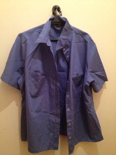 Рубашка синяя 50-52 в Hacıqabul