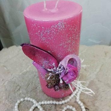 Открытки - Бишкек: Декоративные свечи с добавлением эфирных масел, горят 10-15 часов