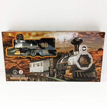 Игрушки - Кыргызстан: Поезд игрушка.Пустите транспорт для ребёнка по круглой трассе с