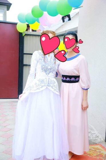 вечернее платье ручной работы в Кыргызстан: Платье на Кыз узатуу ручная работа белоснежная одевала один раз размер
