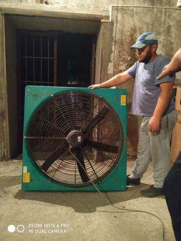 Вентиляторы осевые промышленные d 100 см - 8 штук в наличии. Фирменные