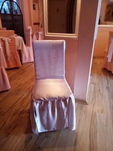 Kuća i bašta - Zajecar: Svecane navlake za stolice,od belog krepsatena,100 komada.cena 600