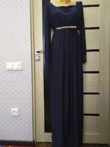 женское платье размер 46 48 в Кыргызстан: Платье женский синего цвета . 46_48 размер