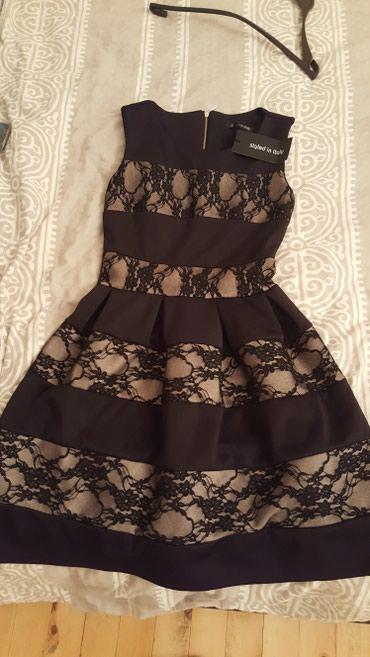 Ženska odeća | Priboj: Crna čipkana haljina kupljena u Italiji sa etiketom nova