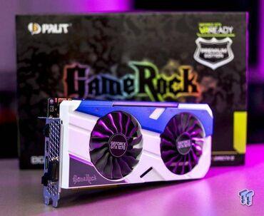 Видео- и звуковые карты - Бишкек: Видеокарта Palit GeForce GTX 1070 GameRock 8gb GDDR5 256 бит Отличное