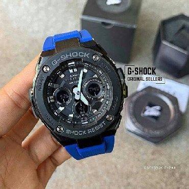 chasy g shock kachestvennaja replika в Кыргызстан: Синие Мужские Наручные часы Casio