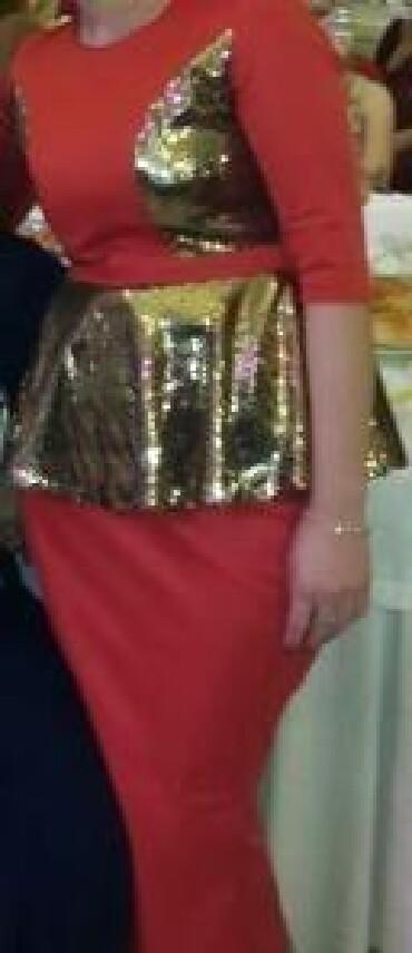 шью на заказ платье в Кыргызстан: Продаю платье вечернее шила на заказ размер 44 46 Одивала один раз на