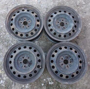 железные диски на 15 в Кыргызстан: Продаю на тойота виш железные диски! Размер 15! В отличном