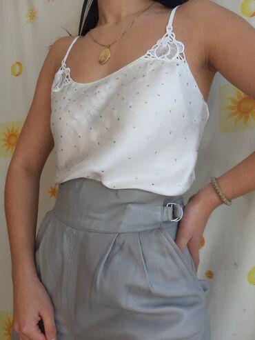 Svilena bluza na bretele 100% svilaKAO NOVO!Veoma nežnaVintage retro