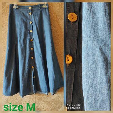 Ətək.Новая юбка. Тонкий джинс, летняя. М размер. В подарок отдам
