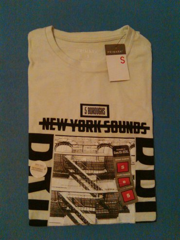 Muska majica,bela sa natpisom,marka Primark,velicina S,vrhunski - Nis