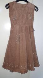 Haljina-postavljena - Srbija: Lupido haljina za devojcice 10-12gPredivna haljinica u braon boji