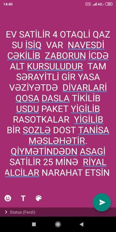 ev alqi satqisi makler - Azərbaycan: Satılır Ev 100 kv. m, 4 otaqlı