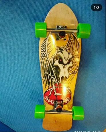 Skate longboard-orjinaldı,100kq çəki götürür.Peşəkar məşğul olanlar