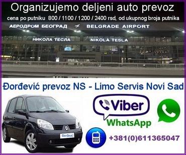 Deljeni prevoz : Novi Sad - Aerodrom Nokola Tesla Beograd - - Novi Sad