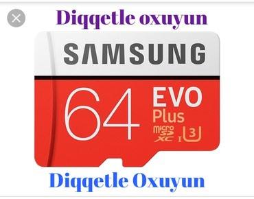 Bakı şəhərində SAMSUNG EVO PLUS 64 GB Micro  Sd Kart