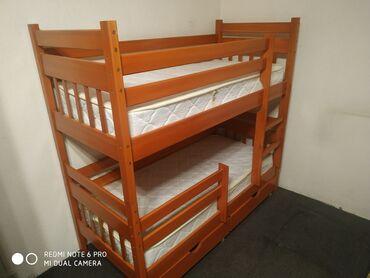 Дом и сад - Бишкек: Продаю детскую кроватку из натурального дерева в месте с матрацами