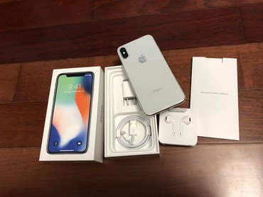 Apple iPhone X 256GB SILVER - разблокирован новый в Душанбе
