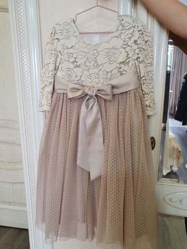 шикарное платье для полных в Кыргызстан: Продам платье детское на 5-6 лет, производство Турция, на х/б