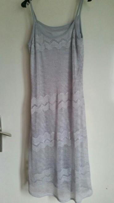 Haljine - Pirot: Haljina mrezasta sa svilenom postavom velicina M