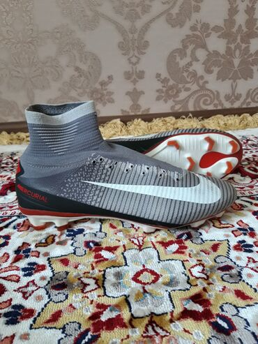 Бутсы в Кыргызстан: Бутсы Nike Mercurial Superfly V FG Revolution - Wolf Grey/White/Orange