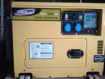 Генераторы - Кыргызстан: Генератор Дизельный на 6 кВт с Автоматикой5 кВт чистыми Новый