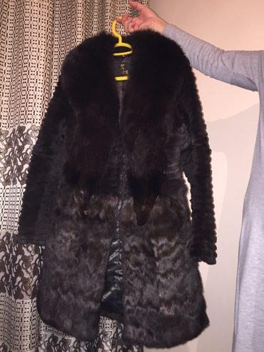 Шуба кролик воротник лиса РазмерL 5500 Сост отл в Бишкек