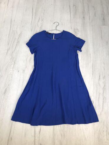 летнее платье свободного кроя в Кыргызстан: СРОЧНО РАСПРОДАЖА! Летнее платье, чуть выше колен. Размер s-m
