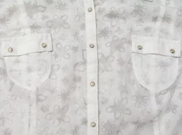 Košuljica sa dezenom - vel. L!   Bela, strukirana košuljica sa prozra