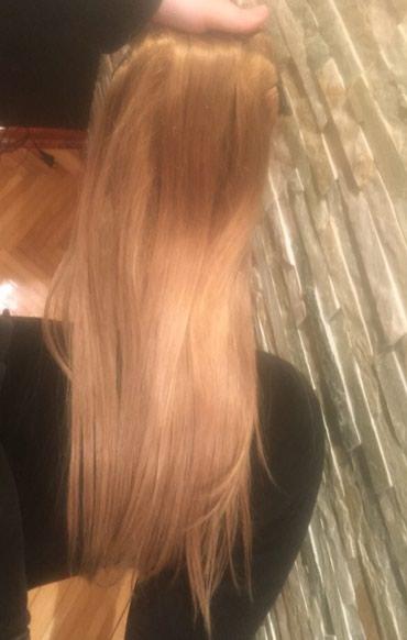 Prirodna kosa na klipse, prirodna ljudska dlaka, ima punu gustinu, 150 - Vranje